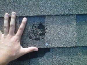 The Effects of Hail Stones on Shingles