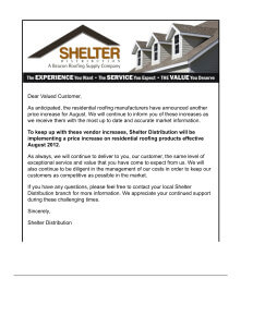 Shelters-Price-increase-August-2012