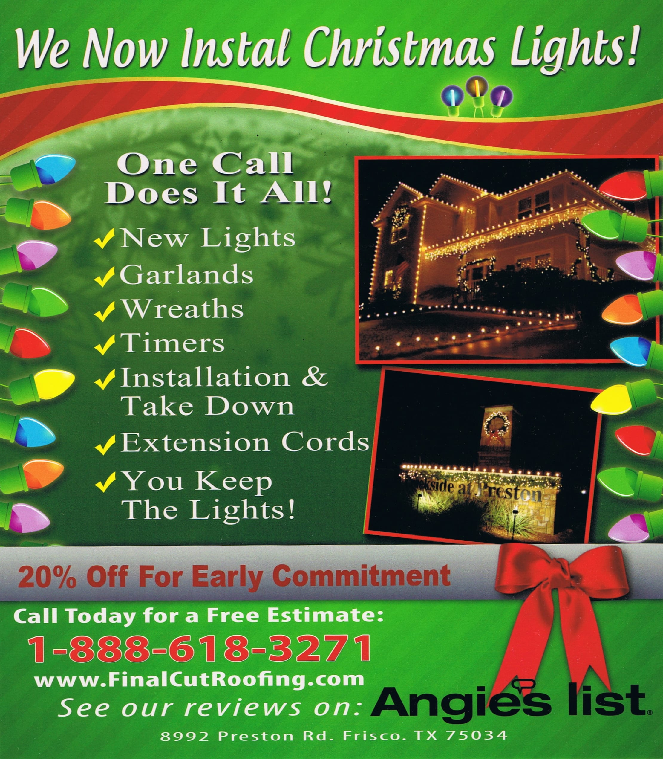 Christmas Lights Installation In Frisco Texas - Final Cut ...